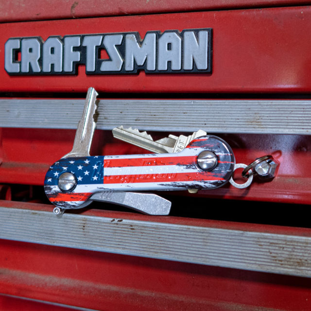 The American Aluminum KeyBar and KeyBar JR UV printed key organizer tool organizer MagNut magnet