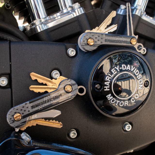 The American Black and Grey KeyBar and KeyBar JR key organizer tools harley davidson motorcycle UV printed