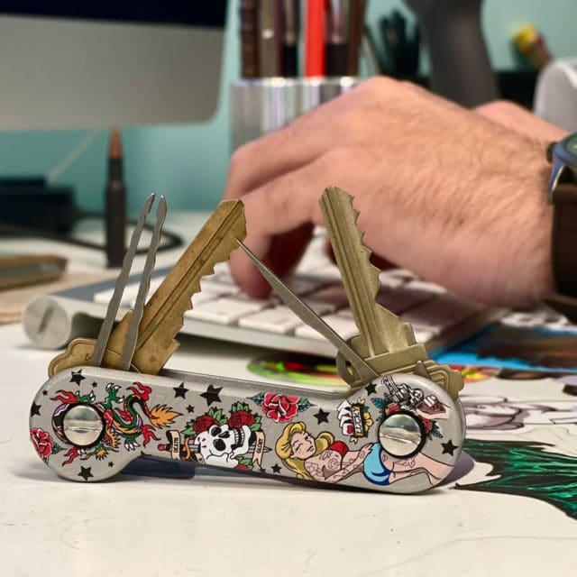 Inked-Aluminum KeyBar