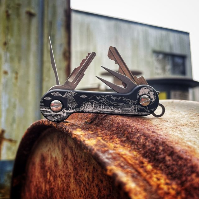 Alien Encounters Black Anodized Aluminum KeyBar