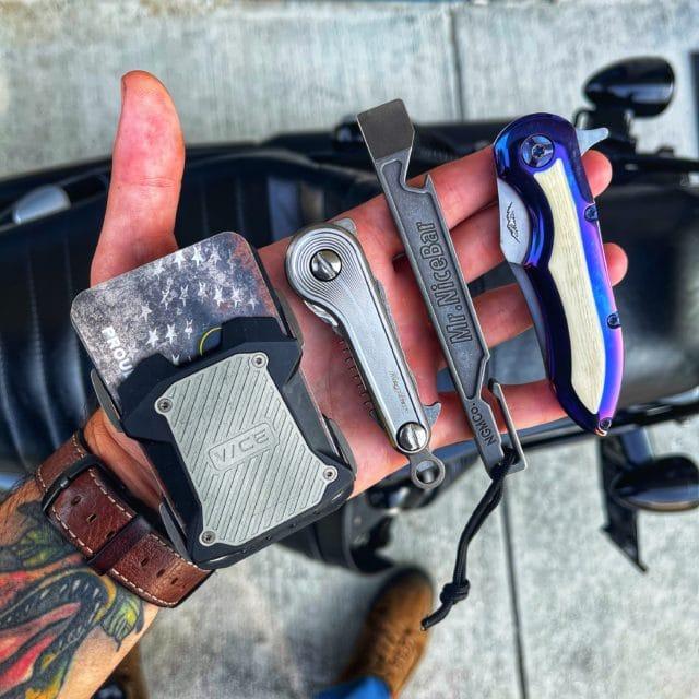 Morph Spiral Titanium KeyBar JR Every Day Carry Pocket Dump