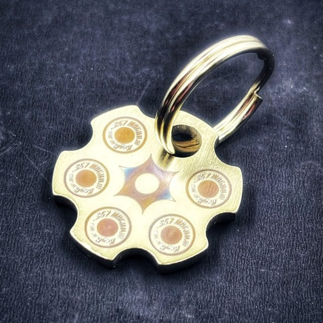 Custom Titanium Revolver Bead from KeyBar with Key Ring