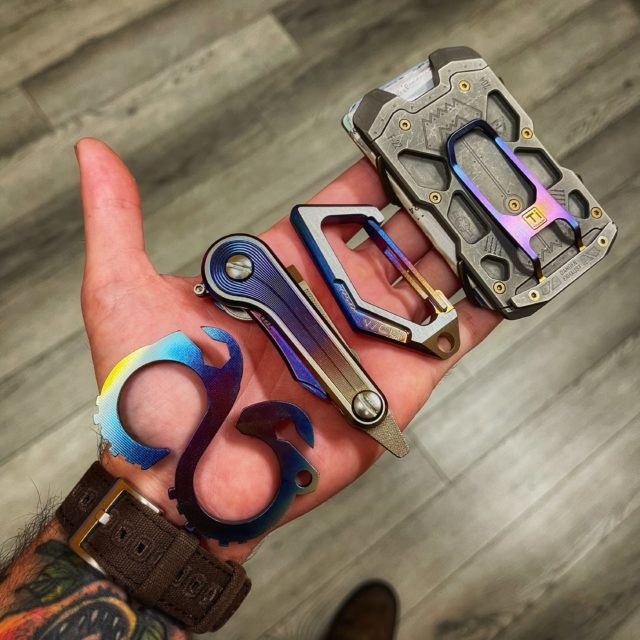 Multi Color Anodized titanium KeyBar JR EDC