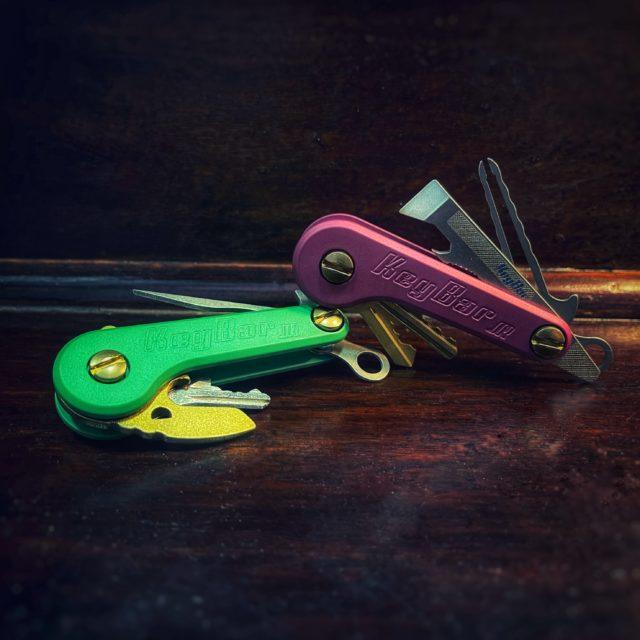 Black-Cherry-and Mint Green Cerakoted-Aluminum-KeyBar-JR