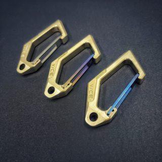 Solid Bronze KeyVice Carabiner KeyBar Vice Hardware