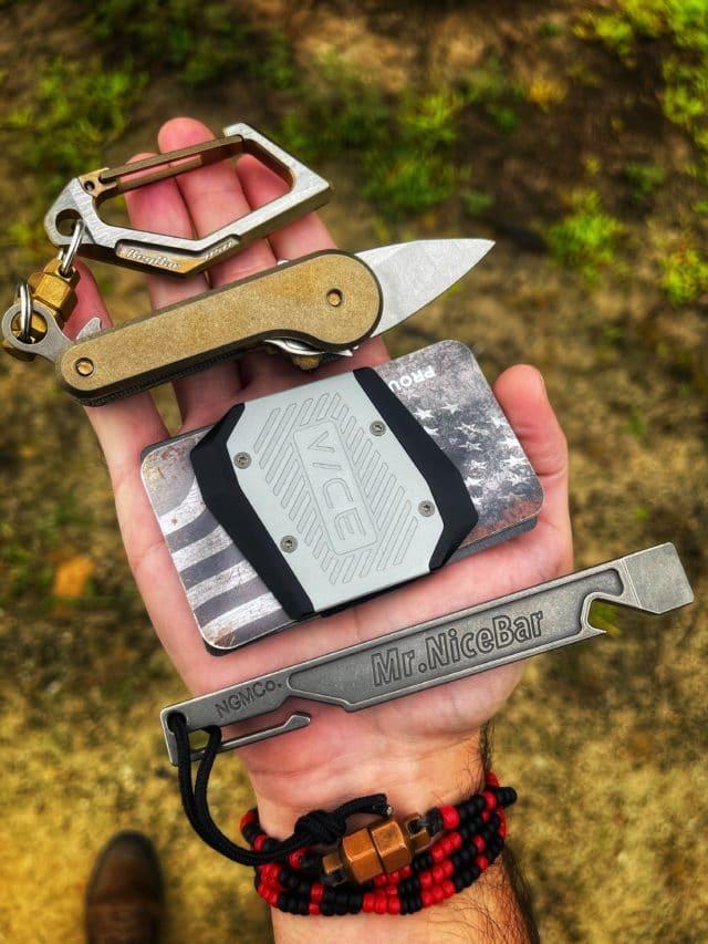 Titanium KeyVice Carabiner EDC Gear